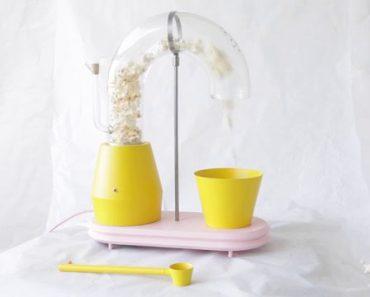 recette popcorn lampe r alis e avec un popper. Black Bedroom Furniture Sets. Home Design Ideas